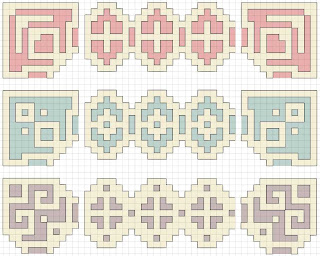 cross stitch corner border patterns