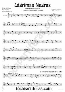 Tubepartitura Lágrimas Negras de Bebo Valdés partitura para Flauta partitura de Bolero