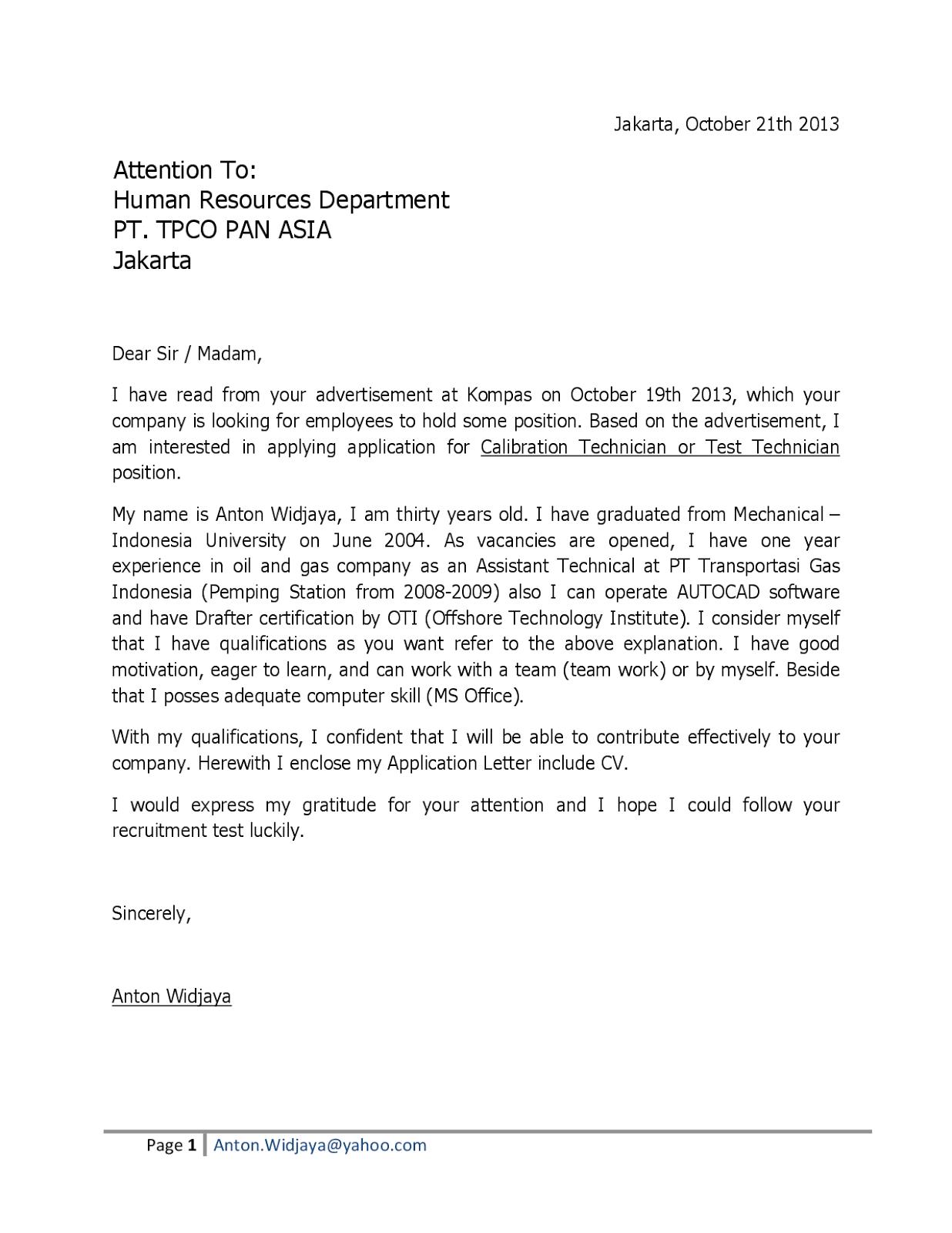 Cover Letter Sample For Fresh Graduate Engineer Pdf