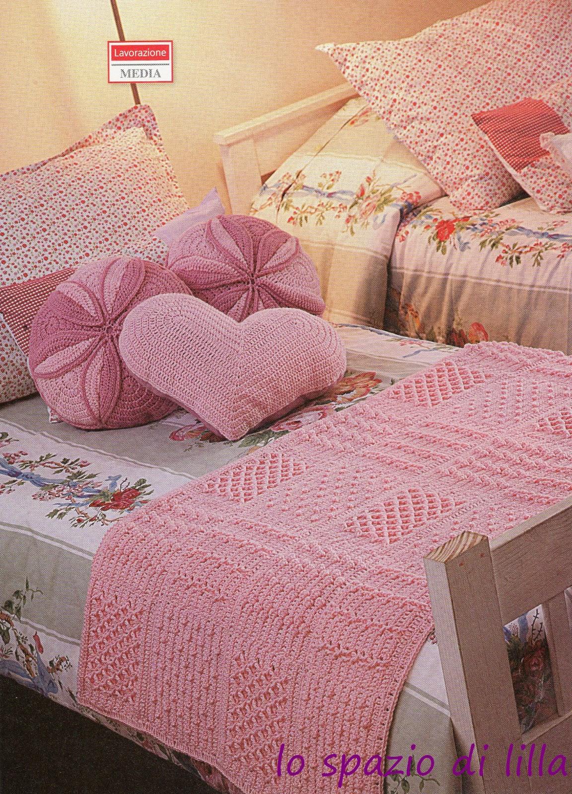 Lo spazio di lilla per la cameretta romantica la for Piani di coperta coperti gratuiti