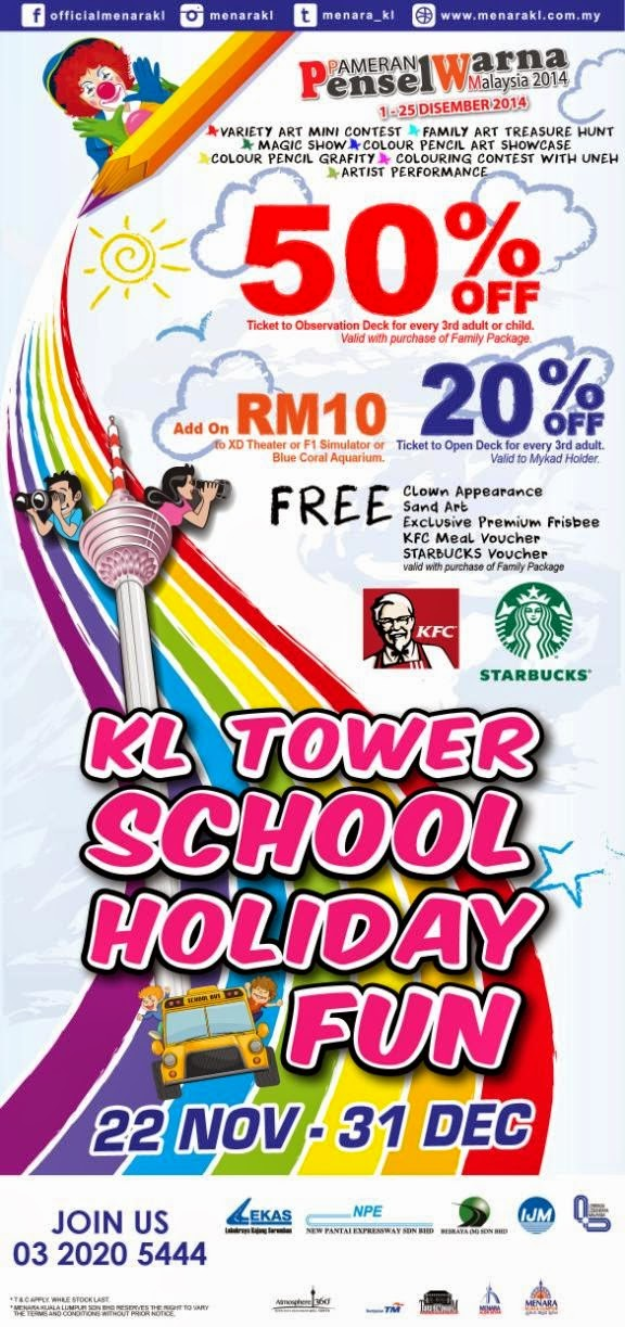 Have A Good Time At 'KL Tower School Holiday Fun' Programme @ Menara Kuala Lumpur