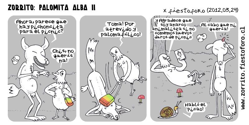 Zorrito Culpeo: La palomita alba 2