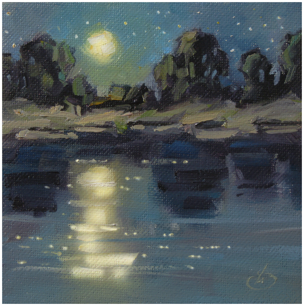 Tom brown fine art nocturne 1 tom brown original oil for Oil art for sale
