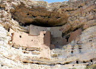Southern Sinagua farmers built what is known today as Montezuma Castle during the 1100s CE. Built in a cliff recess, the dwelling is five stories tall and features twenty rooms.