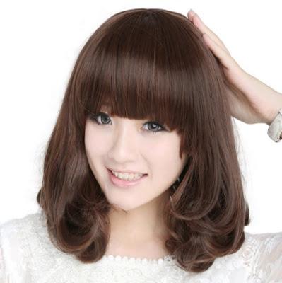 potongan rambut wanita lucu