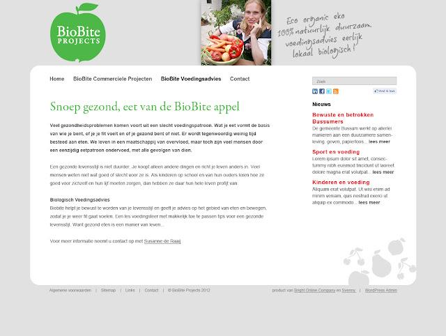 Website ontwerp Biobite