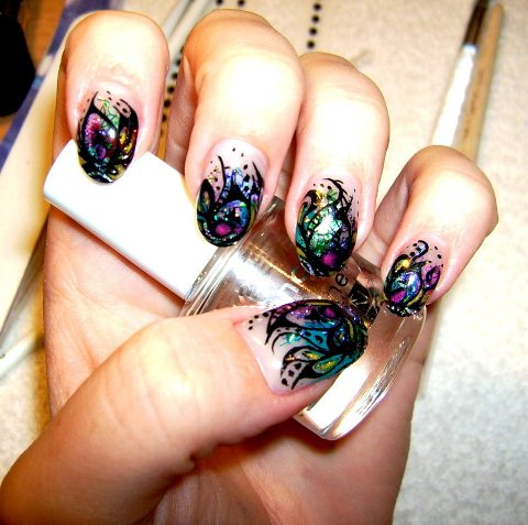 Crazy Colorful Nail Art