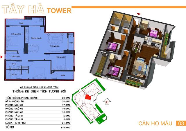 Căn số 3 chung cư Tây Hà Tower