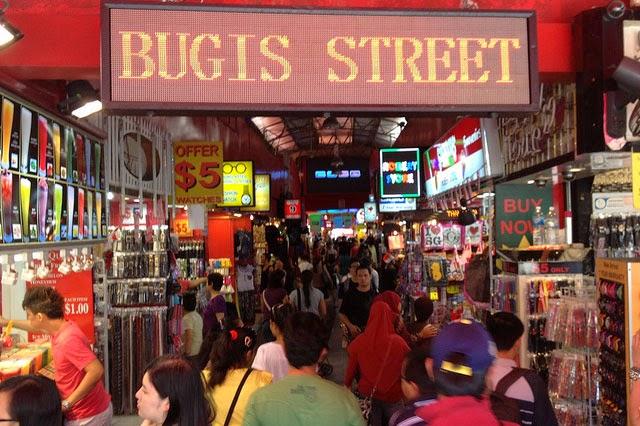 jalan bugis, tempat belanja murah, tempat belnja souvenir di singapura