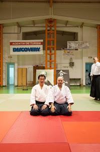 Shihan Yukimtsu Kobayashi si Sensei Sorin Despa - Pitesti-Martie 2013