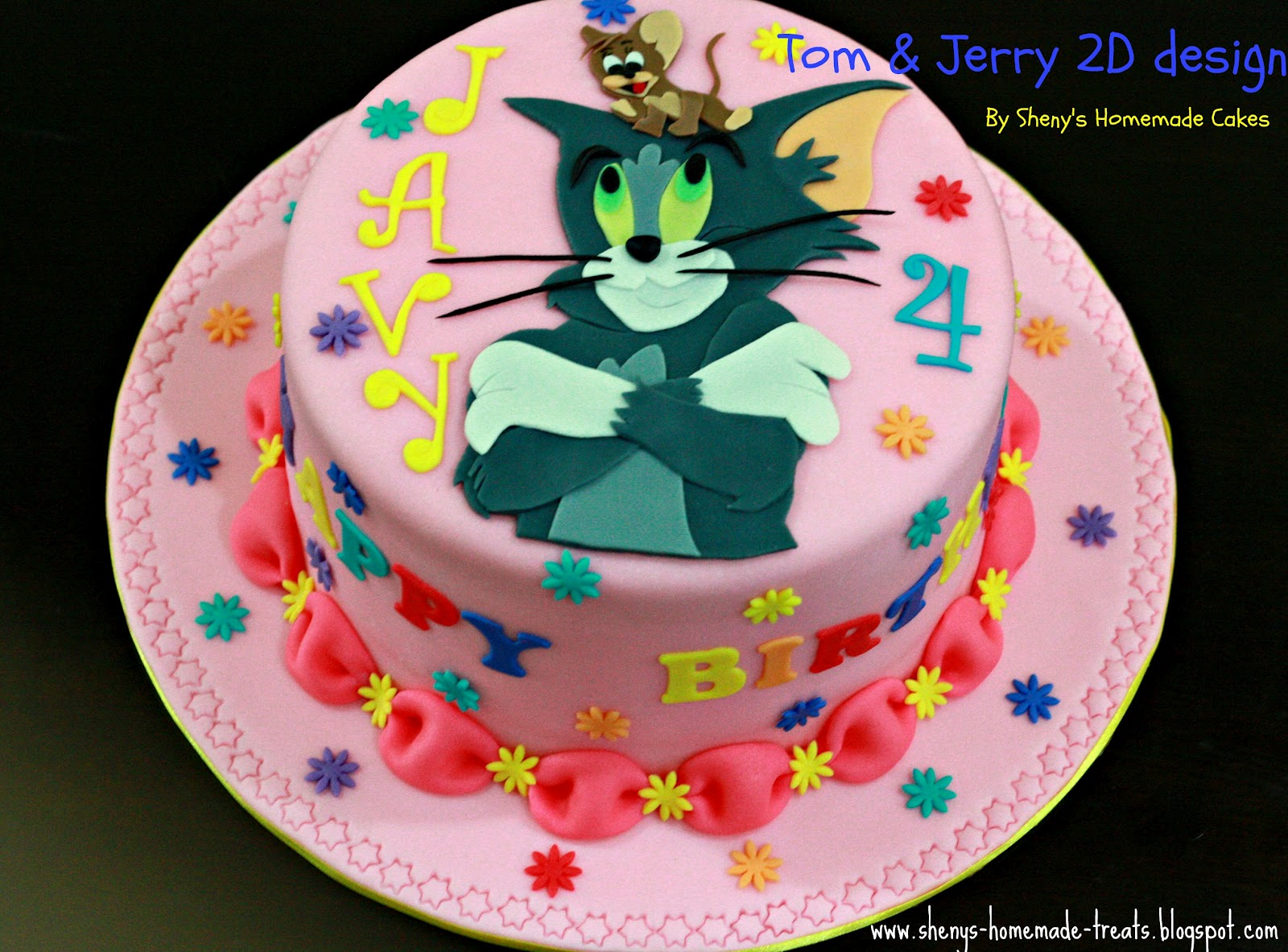 Shenys Homemade Treats Tom And Jerry Birthday Cake
