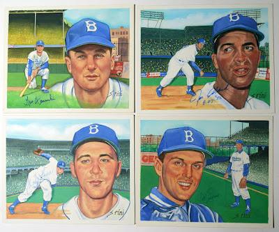 Original Brooklyn Dodger Portraits by Susan Rini