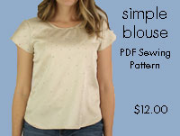 Simple Blouse Sewing Pattern