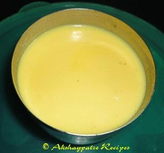 milk and custard powder paste