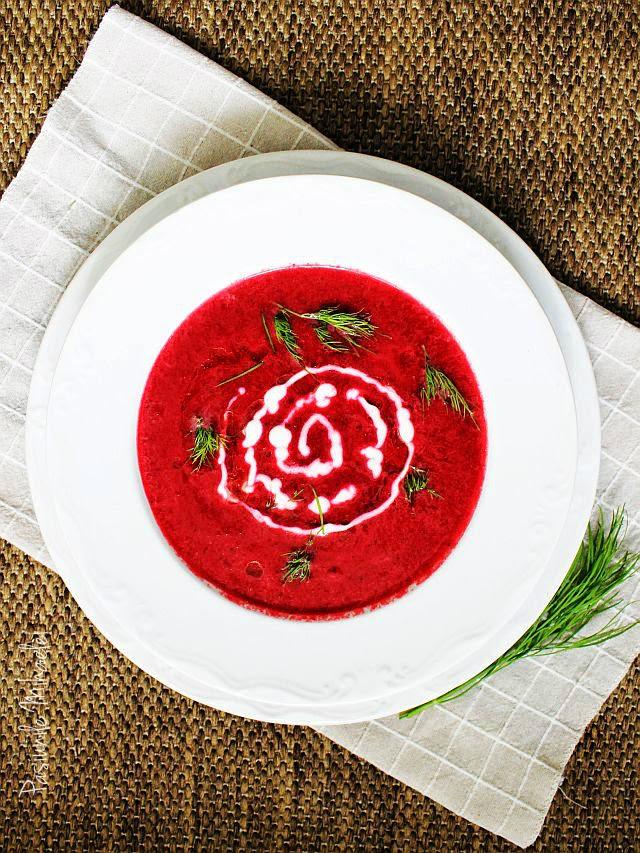 Supă cremă de sfeclă roşie