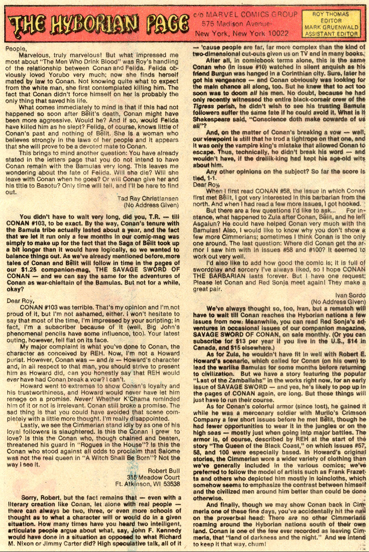 Conan the Barbarian (1970) Issue #109 #121 - English 22