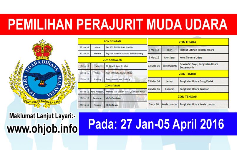 Jawatan Kerja Kosong Tentera Udara Diraja Malaysia (TUDM) logo www.ohjob.info januari april 2016