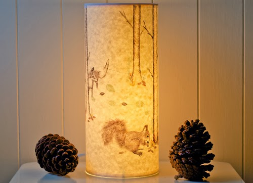 Noras ilkley a northern light find beautiful lampshades and lamps that look just as lovely turned off as they do on but when i saw these stunning illustrated parchment paper lamps aloadofball Choice Image