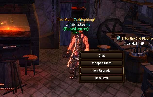 MMORPG Item Upgrade feature