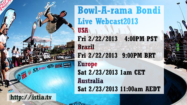 Vans Bowl-A-Rama live streaming video webcast