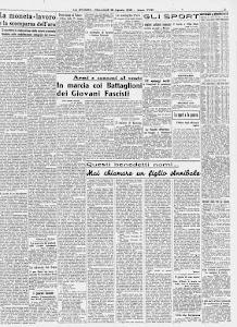 LA STAMPA 28 AGOSTO 1940.