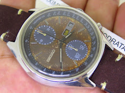 SEIKO CHRONOGRAPH PANDA TROPICAL WHITE DIAL - AUTOMATIC 6138