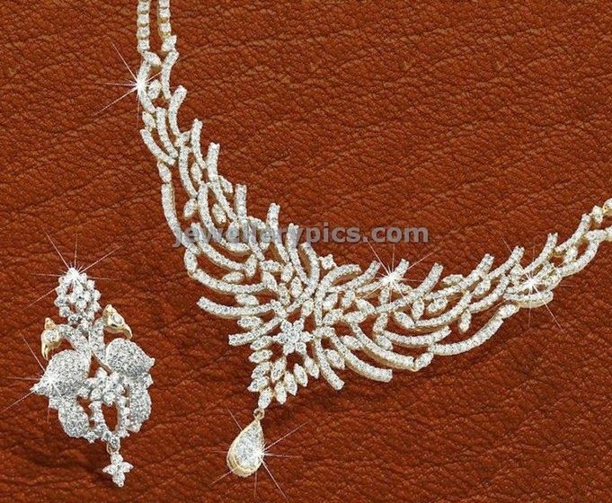 lagu bandhu diamond necklace set