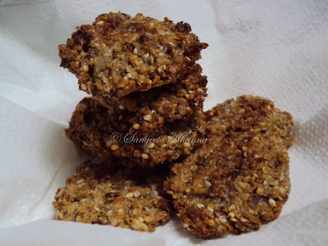 oats and seeds going for a cookie....chewy oats cookies II