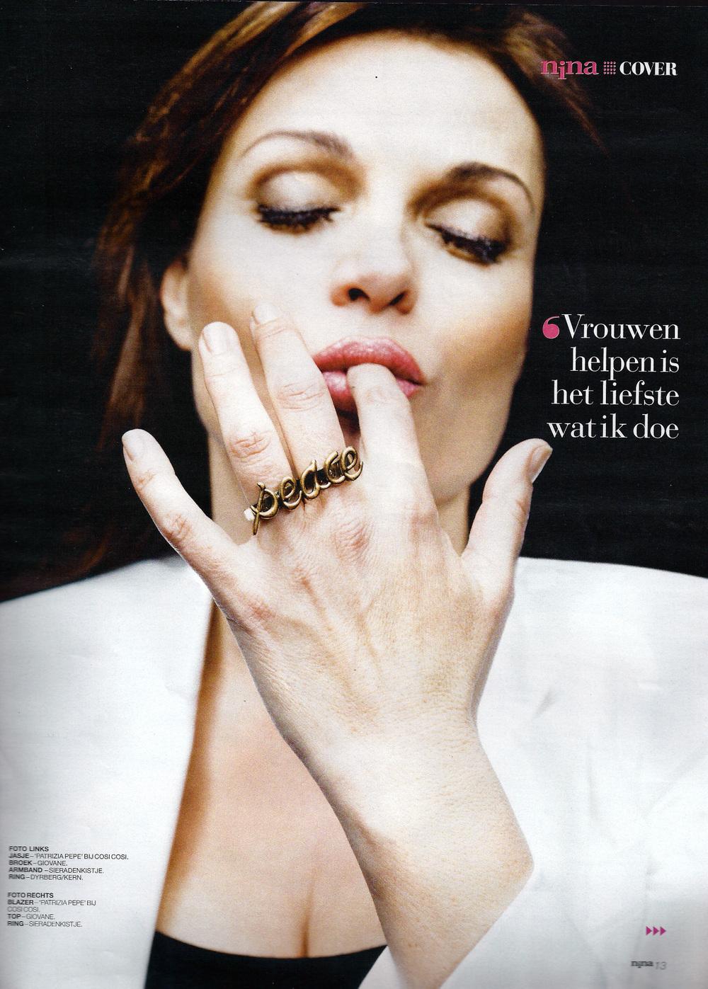 Goedele Liekens @ Nina, Belgium, March 2012 - Fashion Mags - fashion ...