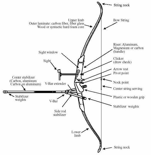 About Sports Archery Anatomy Of Recurve Bow