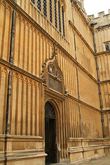 A doorway in the Bodleian Library quad