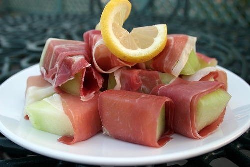 Melon with Parma Ham | 1000 Calorie Counted Recipes