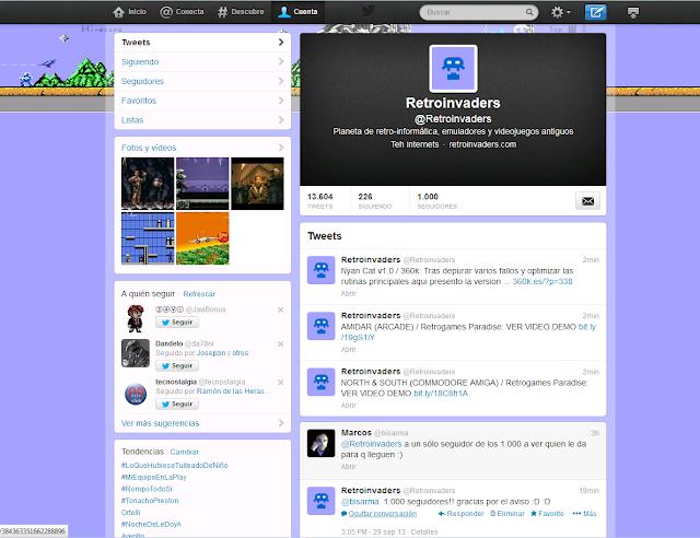 Los 1000 seguidores en Twitter