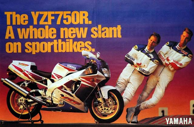 Racing Caf U00e8  Vintage Brochures  Yamaha Yzf 750 R  U0026 39 90s  Usa
