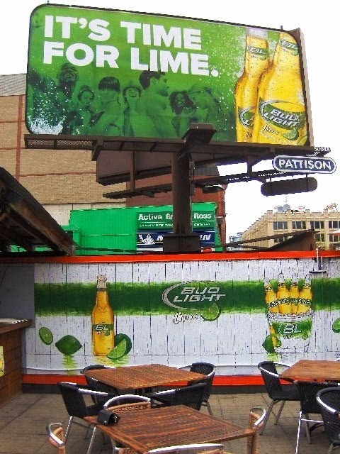 Bud Light Lime Patio Mural
