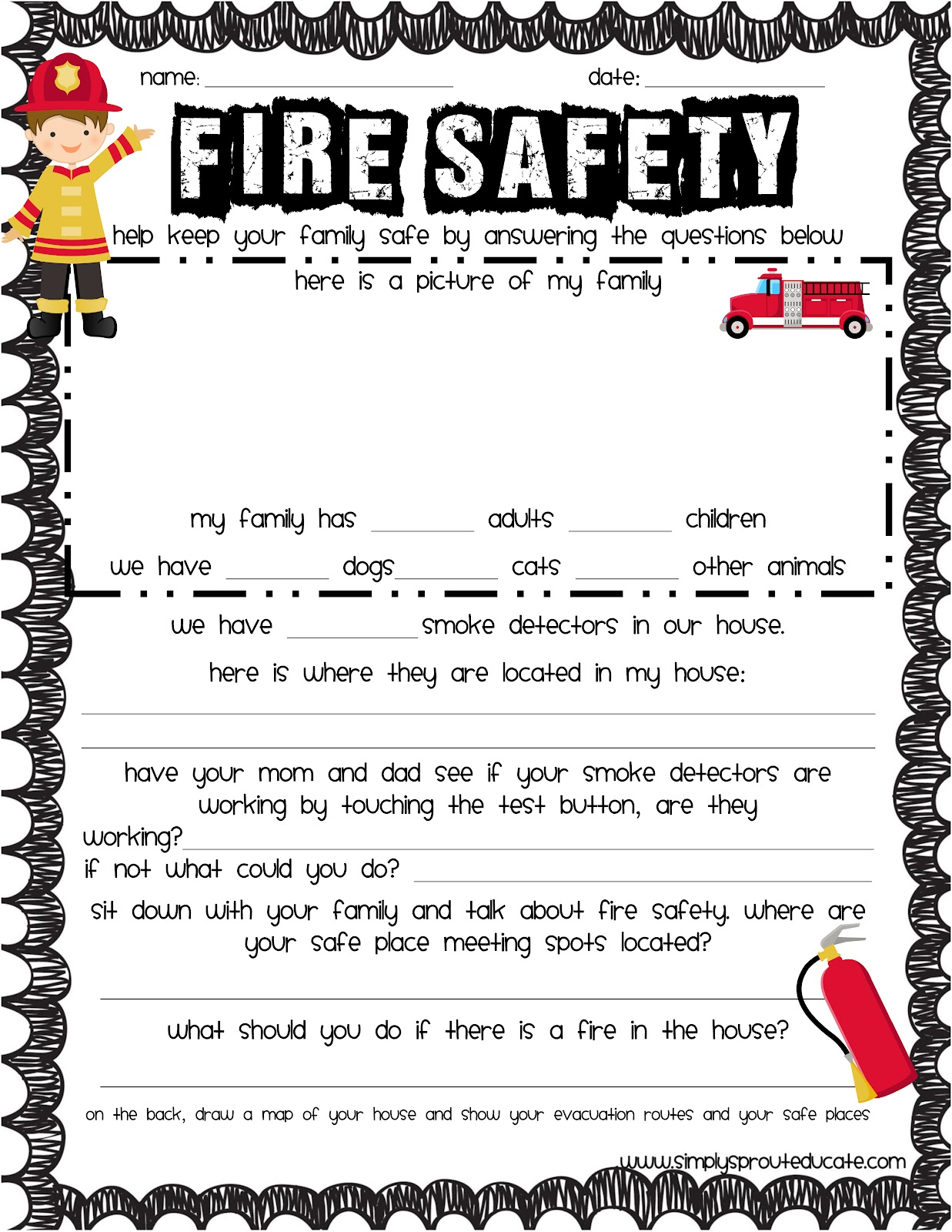 Irresistible image inside fire safety printable