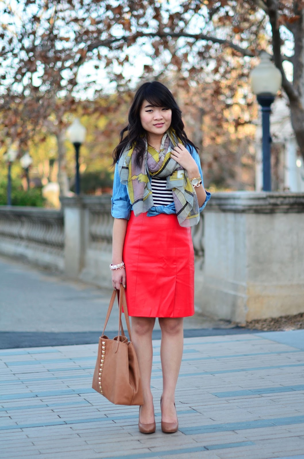 What to wear with a red skirt 17