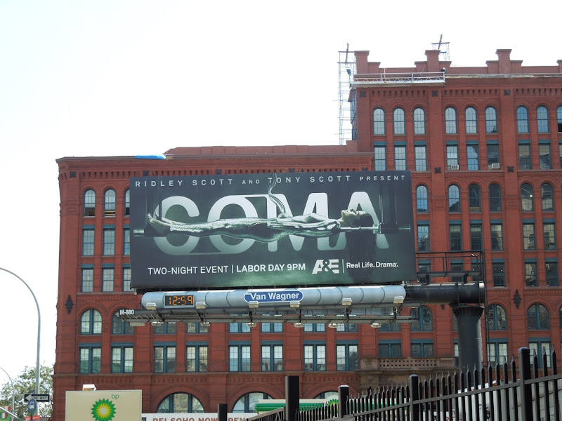 Coma TV remake billboard NYC