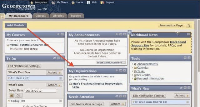 How To Add My Organization Sites To My Blackboard Page