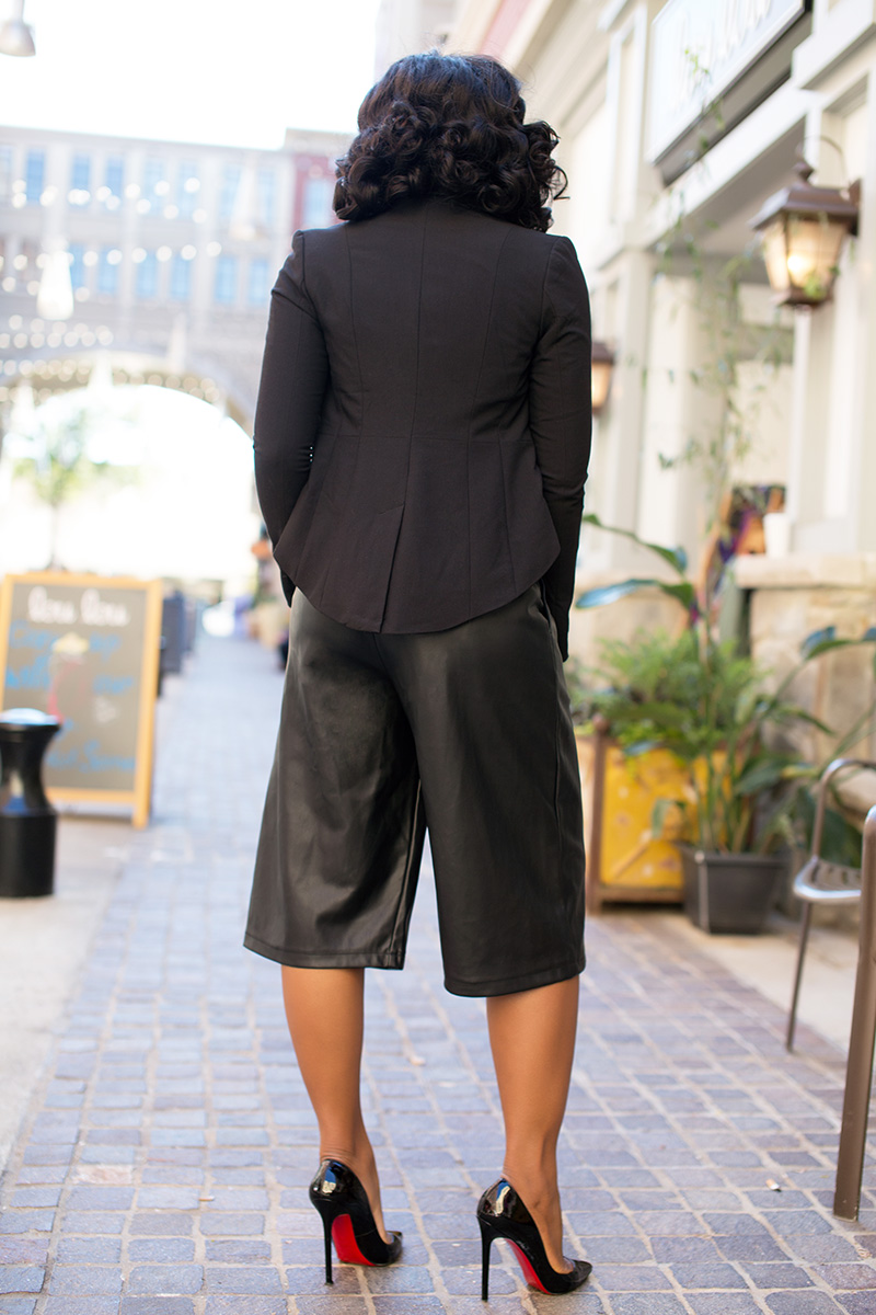 leather like culottes, Christian louboutin, www.jadore-fashion.com