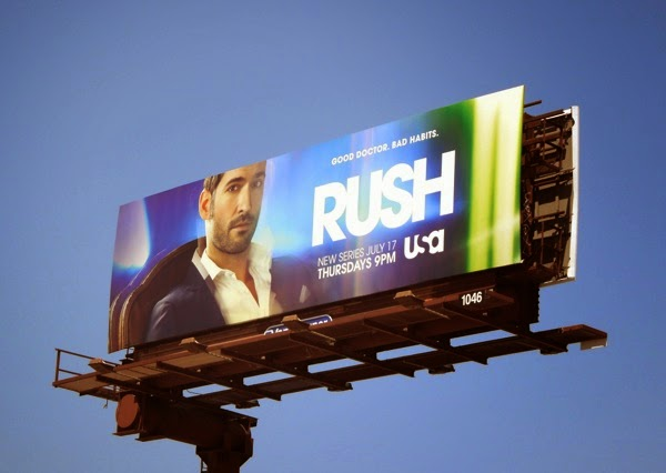Rush series launch USA billboard