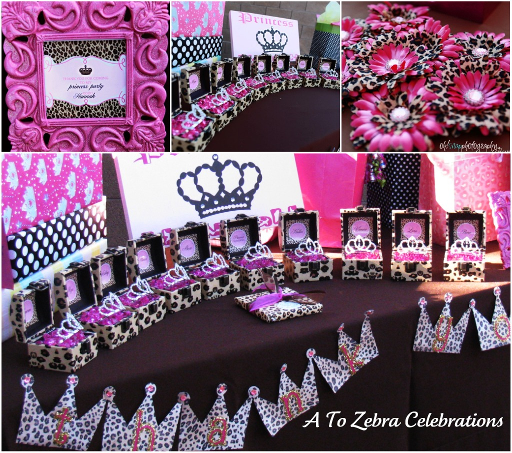 Leopard princess party a to zebra celebrations for Animal print baby shower decoration ideas