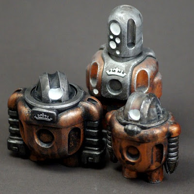 Mk2 Maintenance Sprogs by Cris Rose - Copper Renold, Renold & Runcible Resin Figures