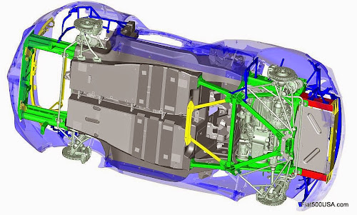 Alfa Romeo 4C Chassis Under View