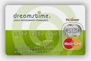 Карточка Dreamstime Payoneer