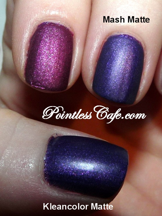 MASH Matte Top Coat - Swatches and Review   Pointless Cafe