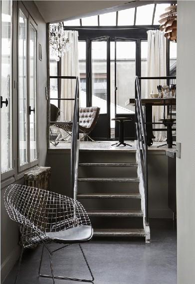 Residence design industriell inredningsstil har snygga for Industrial chic style