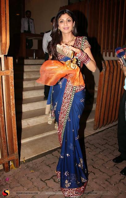 Shilpa Shetty Ravina Tondon At Karva Chauth Party