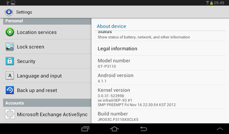 android 4.1 update for samsung galaxy tab 2