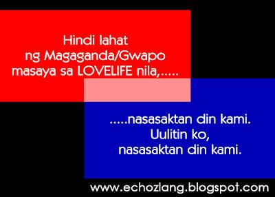 Hindi lahat ng Magaganda/Gwapo masya sa LOVELIFE nila